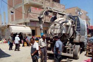 انتشار سيارات الشفط لإزالة رواسب الذبح بشوارع الإسكندرية
