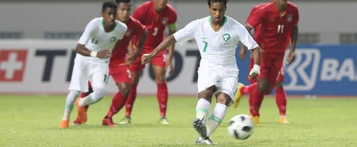 فوز المنتخب السعودى على ميانمار