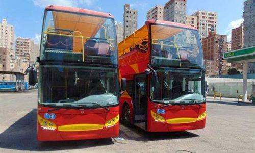 أتوبيسين سياحيين جديدان مكيفان بهما أماكن لذوي الاحتياجات الخاصة بالاسكندرية