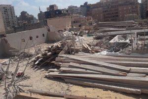بالصور إيقاف أعمال بناء مخالف بفلمنج فى الإسكندرية