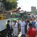 حملات إزالة إشغالات مكبرة بحى الجمرك بالإسكندرية