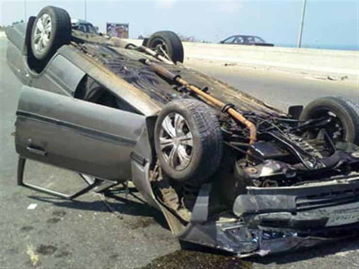 حادث انقلاب سيارة بمحافظة قنا