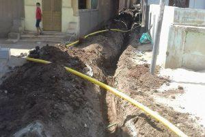محافظ دمياط : يشدد على سرعة الانتهاء من توصيل الغاز الطبيعى الى المنازل بقري دمياط