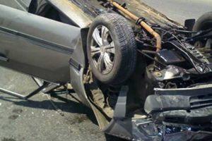 إصابة 4 أفراد في انقلاب سيارتين بزراعي إيتاي البارود بمحافظة البحيرة