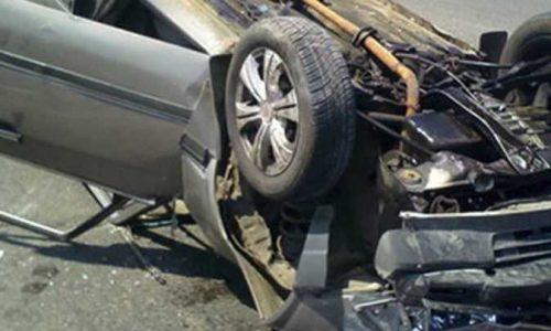 إصابة سائق ملاكى إثر انقلاب سيارته عند منزل كوبرى بالعباسية