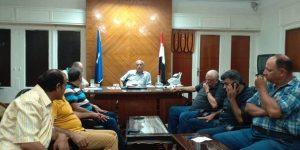 اجتماع رئيس الوحدة المحلية لمدينة و مركز دمياط