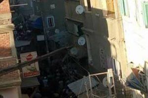 ننشر تفاصيل انهيار عقار يسكنة 3 اسر و مكون من 4 طوابق في مدينة عزبة البرج بدمياط