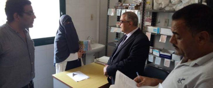 جولة تفقدية لوكيل وزارة الصحة بدمياط لمتابعه قسم الغسيل الكلوي بمستشفي عزبة البرج