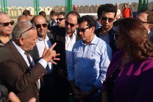 """بالصور """"ابوجنبه"""" يستقبل وزير الشباب و محافظ دمياط بالقرية الاولمبية"""