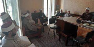 وكيل الاوقاف بدمياط يشدد على مديري الإدارات و المفتشين إثبات جميع المساجد والزوايا