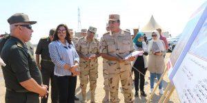 محافظ دمياط ورئيس هيئة هندسة القوات المسلحة يتابعان أعمال شبكات مشروع مدينة دمياط للأثاث