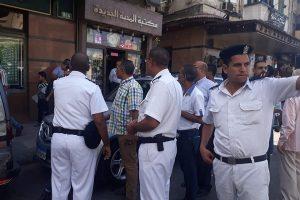 حملات إزالة إشغالات مكبرة بحى وسط فى الإسكندرية