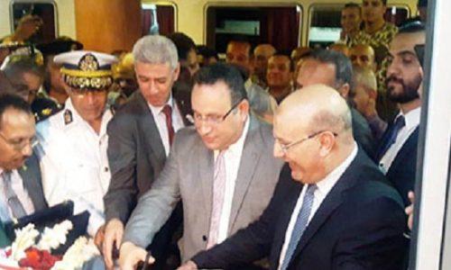 بالصور.. محافظ الإسكندرية يفتتح الأتوبيس الكهربائى لأول مرة