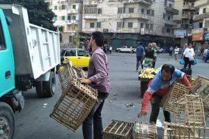 بالصور حملات إزالة إشغالات مكثفة فى حي المنتزه أول بالإسكندرية