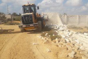 بالصور إزالة تعديات على أراضي الدولة ببرج العرب فى الإسكندرية