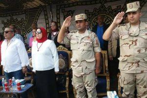 بالصور.. آمال عبد الظاهر تشهد احتفالية انتصارات أكتوبر