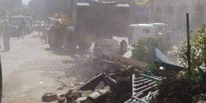 شن حملة مكبرة لإزالة التعديات على املاك الدولة فى قرية العنانيه بدمياط
