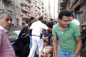 حملات مكبرة لإزالة إشغالات فى عدة مناطق بحى وسط فى الإسكندرية