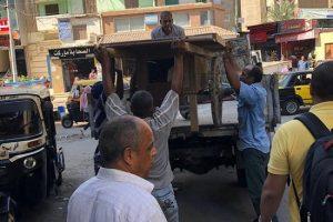 بالصور| حملات إزالة إشغالات مكثفة بحى شرق فى الإسكندرية