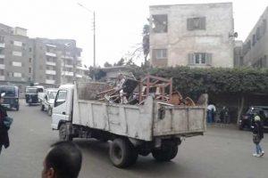 ضبط مخالفات وازالة تعديات بمدن وقرى محافظة المنوفية