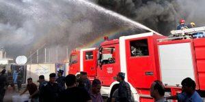 نشوب حريق داخل