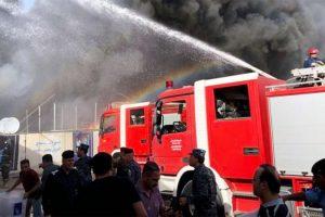 نشوب حريق داخل مركز أسنان في الإسكندرية
