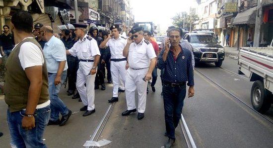 بالصور حملات إزالة إشغالات بمنطقة محرم بك بالإسكندرية