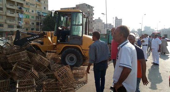 بالصور حملات إزالة إشغالات مكبرة بحى وسط فى الإسكندرية