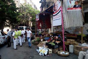بالصور حملات إزالة إشغالات وتند وسقائف بعدة مناطق في حي وسط بالإسكندرية
