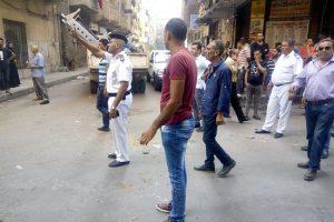 بالصور حملات إزالة تعديات وإشغالات فى عدة مناطق بحى وسط بالإسكندرية