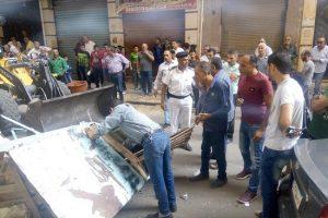 بالصور إزالة إشغالات بدوران كابو بالإسكندرية