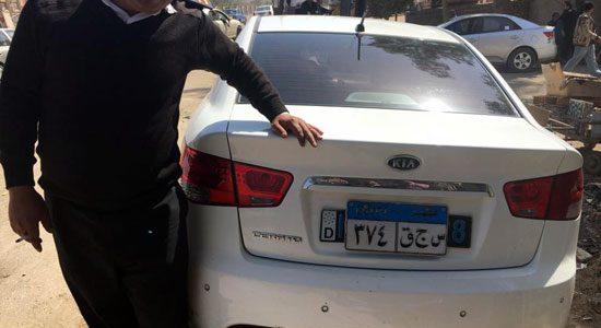سقوط فنى سرق سيارة ملاكي بالمفتاح المصطنع بالجيزة