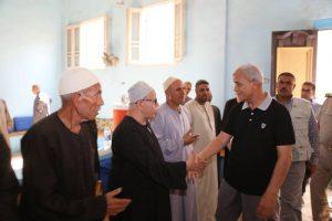 """""""محافظ المنوفية """"ينهي الخلاف بين أهالي قرية ويؤكد علي سرعة إتخاذ الإجراءات القانونية اللازمه"""
