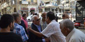 """""""محافظ بورسعيد""""يتابع توافر السلع بالاسواق ويلتقي بالمواطنين"""