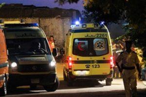 إصابة طالب فى حادث تصادم  دراجة بخارية وسيارة ملاكي في منية النصر