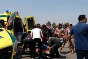 إصابة شخص أثر حادث سيارتين أعلى طريق الواحات الصحراوى بالجيزة
