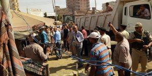 حملة امنية مكبرة لرفع الاشغالات بمداخل مدن وقرى محافظة البحيرة