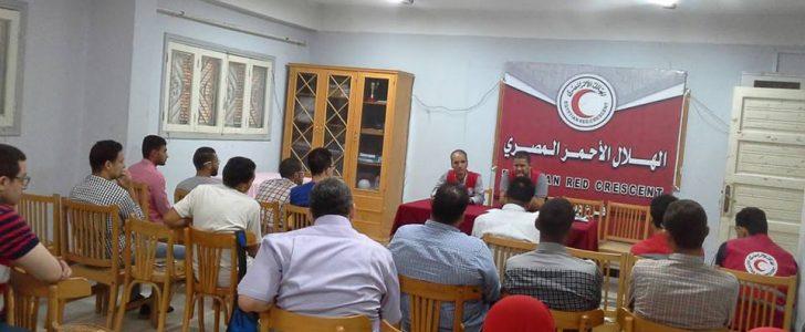 الهلال الأحمر المصري بدمياط تختتم فاعليات تدريب الإسعافات الأولية لمجموعة شباب