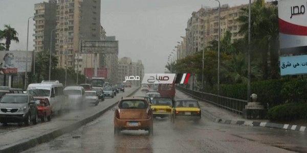هطول أمطار غزيرة بالإسكندرية الآن وانخفاض درجات الحرارة