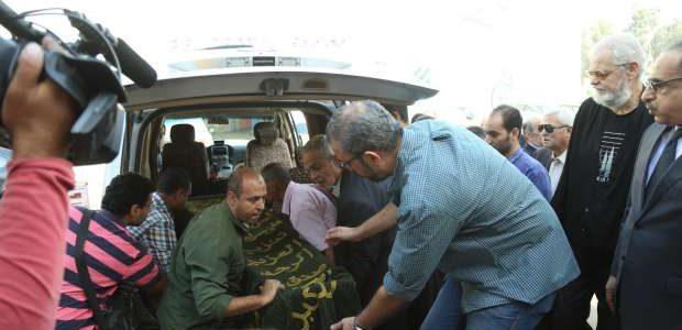 تشييع جثمان الراحل حمدي قنديل من مسجد الرحمن الرحيم.. صور