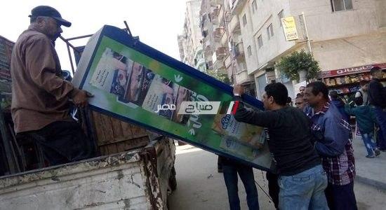 حملات إزالة تعديات وإشغالات مكبرة بحي شرق فى الإسكندرية