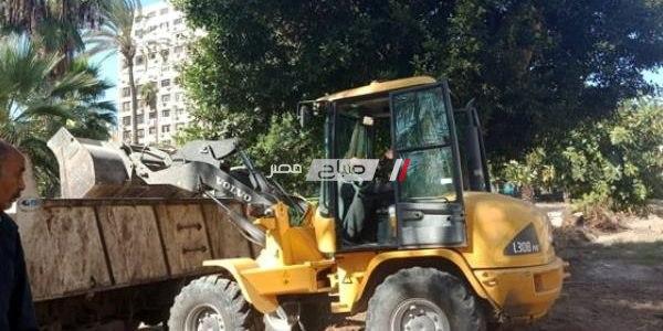 آثار الإسكندرية تشن حملة لإزالة مخلفات طابية باب رشيد الأثرية