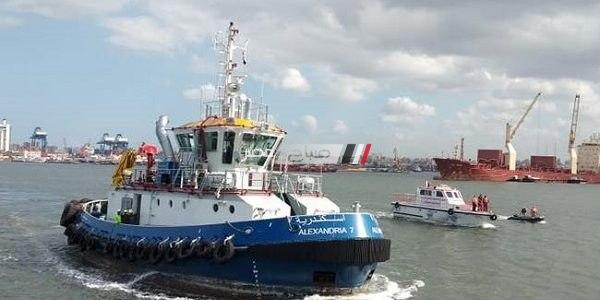 بالصور قاطرتين بحريتين جديدتين تدخلان الخدمة بميناء الإسكندرية بتكلفة 133.5 مليون جنيه