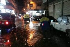 محافظ الاسكندرية يتابع أعمال نزح المياه المتراكمة بمنطقة باكوس