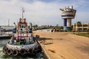 83 سيارة نقل تغادر ميناء دمياط بحمولة 4042 طن قمح