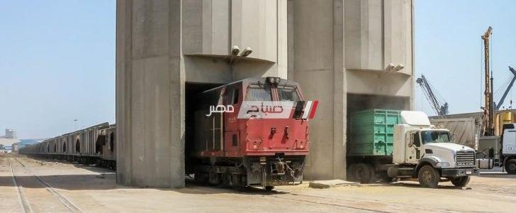 قطاران يغادران ميناء دمياط بحمولة 2689 طن قمح