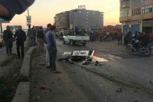 مصرع شخصين فى حادث إنقلاب سيارة بمنطقة النوبارية