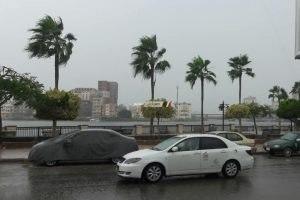 سقوط امطار خفيفة بدمياط و رفع درجة الاستعداد تحسباً لتقلبات الطقس
