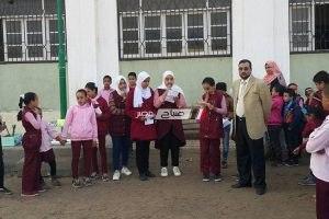 مدير كفر سعد التعليمية يتفقد انتظام العمل بمدرستي العباسية 1 و 2 للمرحلة الابتدائية