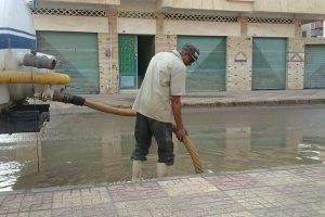 شن حملة مكبرة لشفط مياه الامطار بقرية سنهور وطريق دمنهور دسوق
